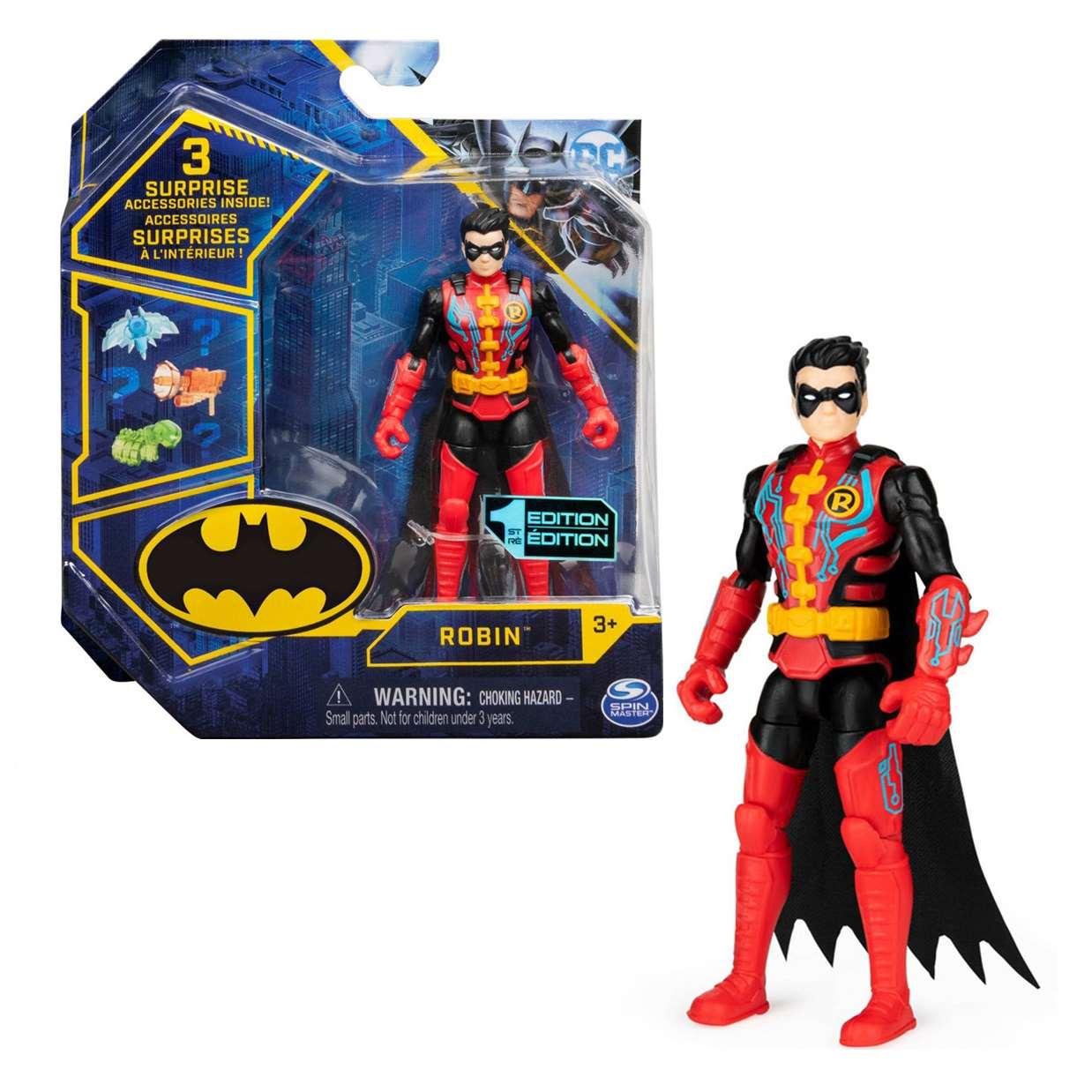 Robin 1st Edition Figura Dc Comics Spin Master 3 PuLG