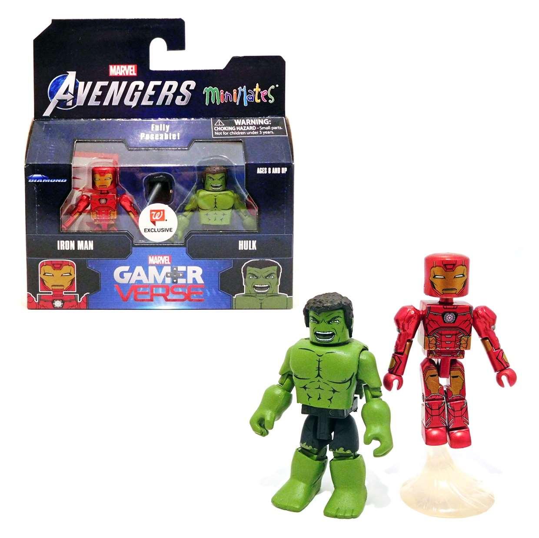 Pack 2 Figurillas Iron Man And Hulk Minimates Exc Wallgreens