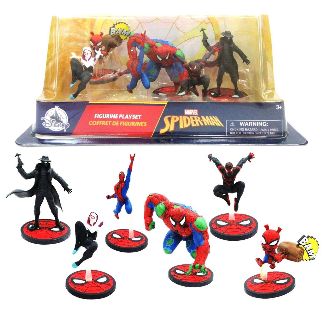 Paquete De 6 Figuras Marvel Spider Man Disney Spider Hulk