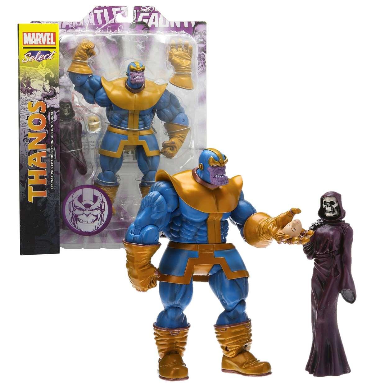 Thanos Y La Muerte Figura Marvel Select Disney Toys 6 PuLG