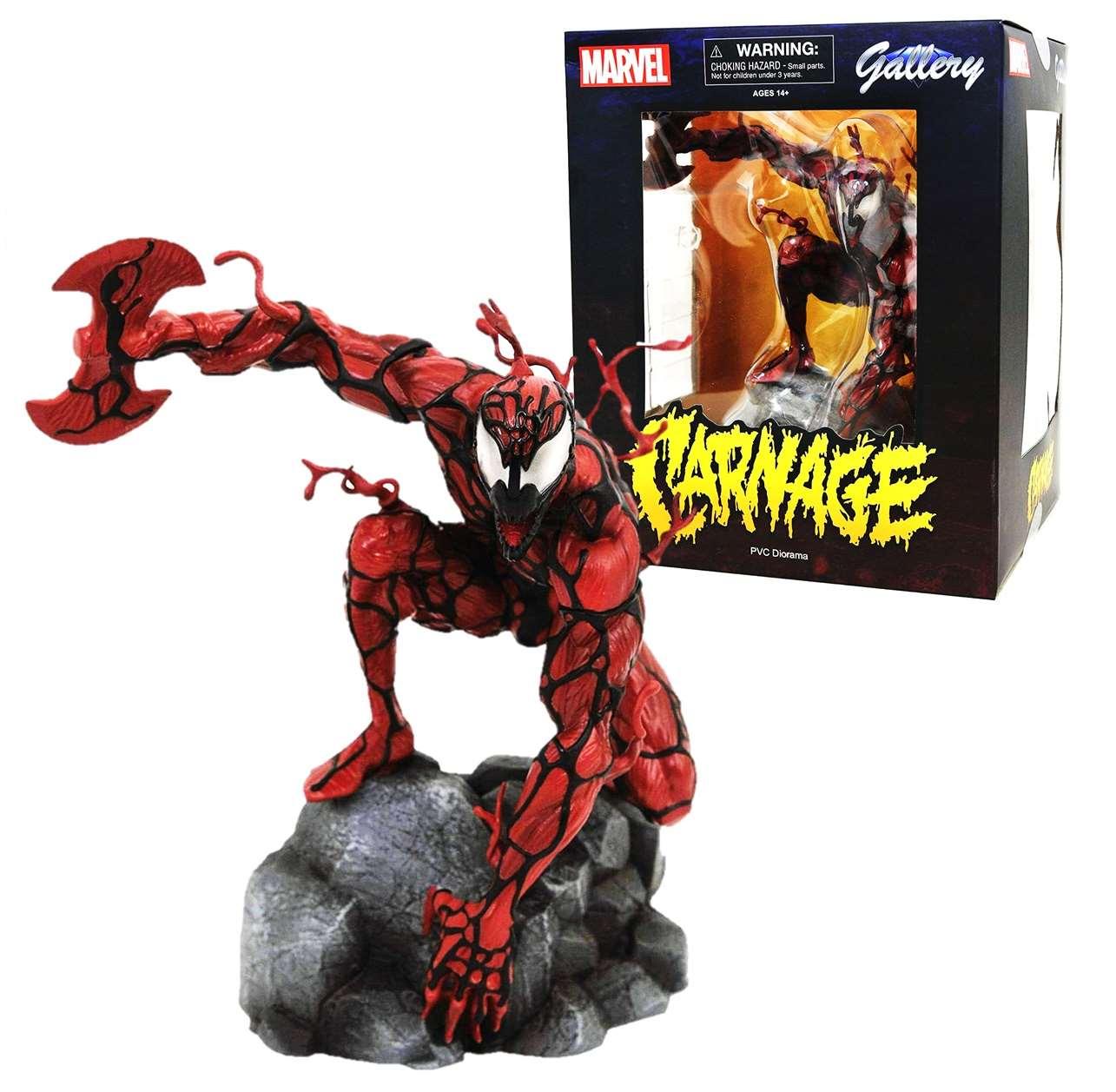 Carnage Diorama Figura Estatua Marvel Gallery Diamond Select