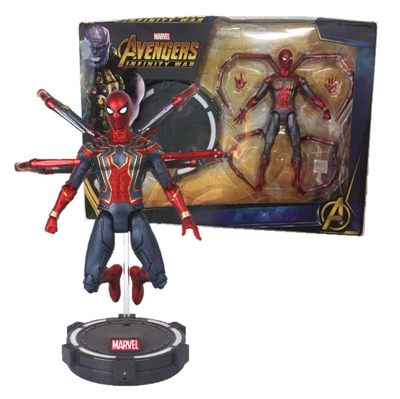 Iron Spider Figura Marvel Infinity War Con Base Led