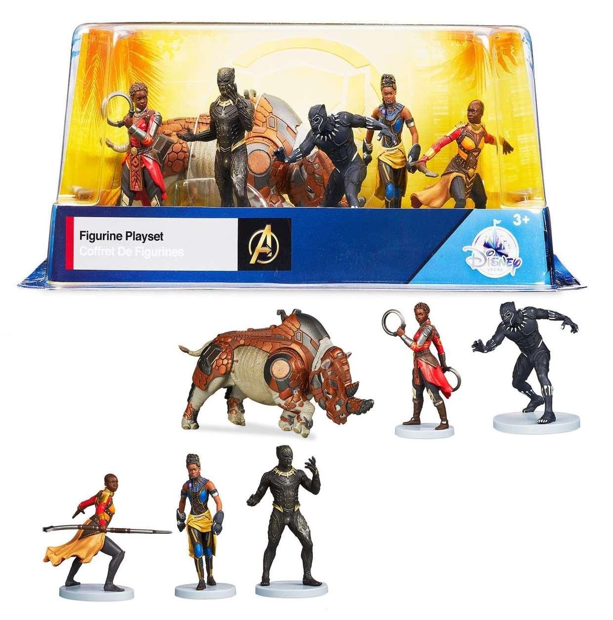 Paquete De 6 Figuras Black Panther Disney Marvel