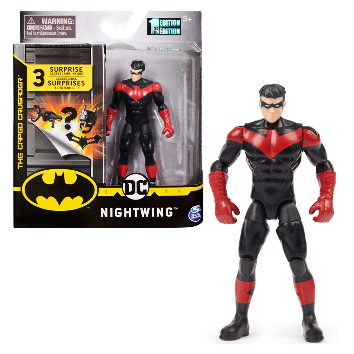 Nightwing Red Figura The Caped Crusader Spin Master 3 Pulg
