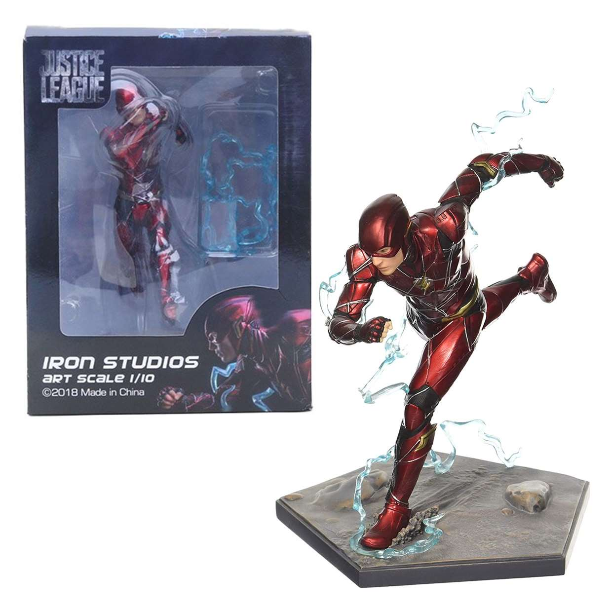 The Flash Running Art Escale 1/10 Estatua Justice League