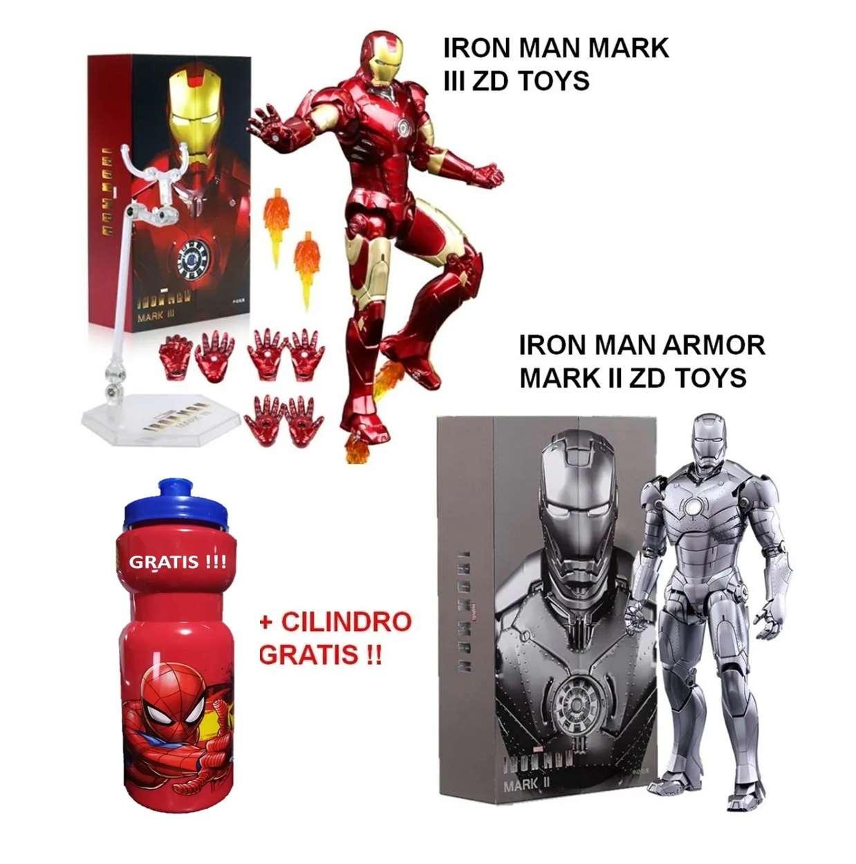 Iron Man Armor Mark Il + Iron Man 3 Mark Ill Zd Toys 6 PuLG