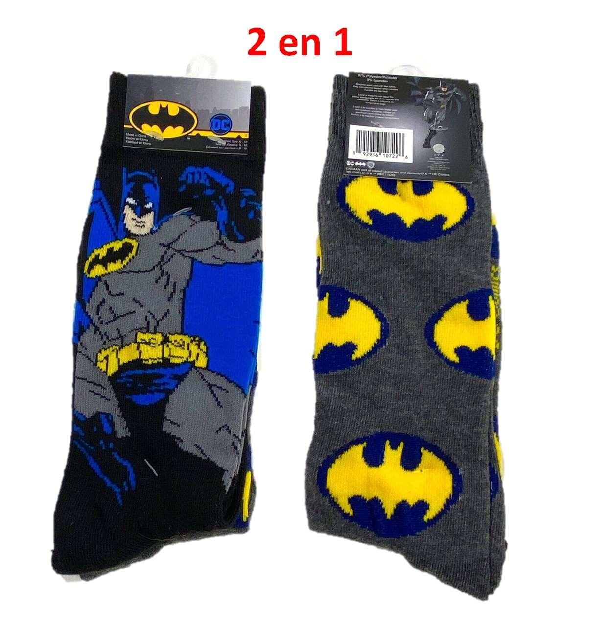 Pack 2 En 1 Calcetin (socks) Dc Batman 6/12 Hyponline