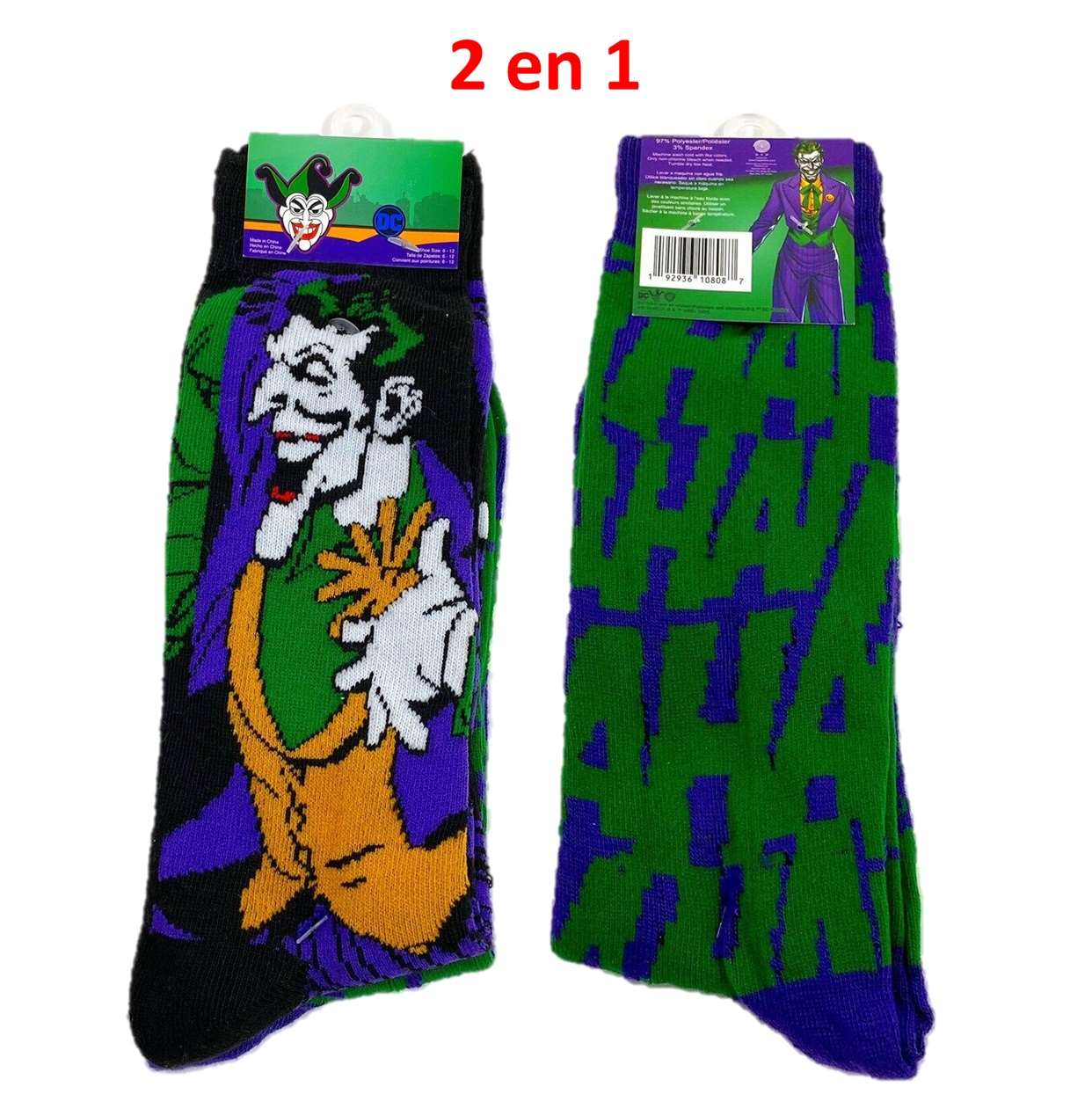 Pack 2 En 1 Calcetin (socks) The Joker Size 6/12 Hyponline