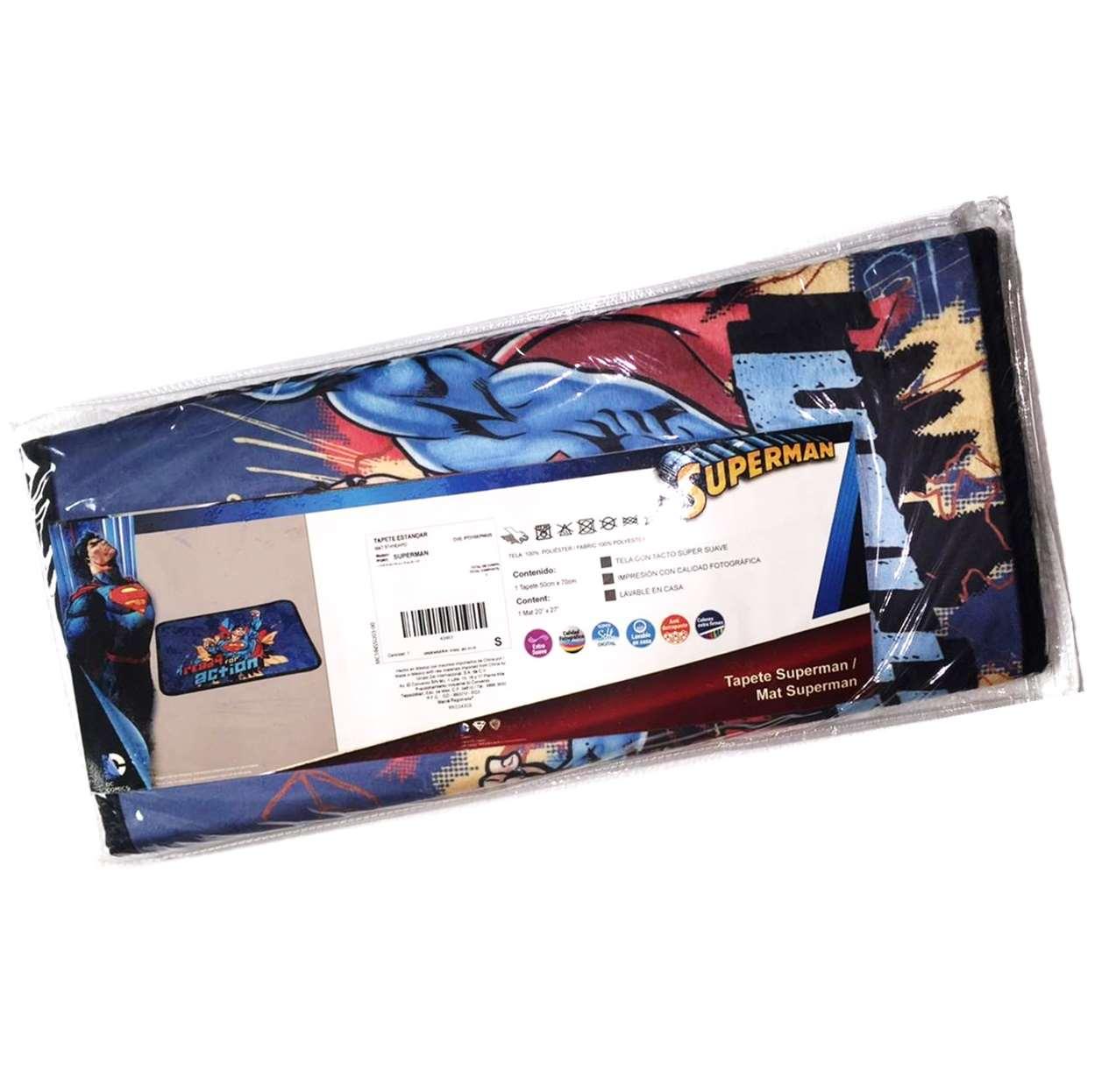 Tapete Standard Multicolor Dc Superman Intima Hogar 50x70cm