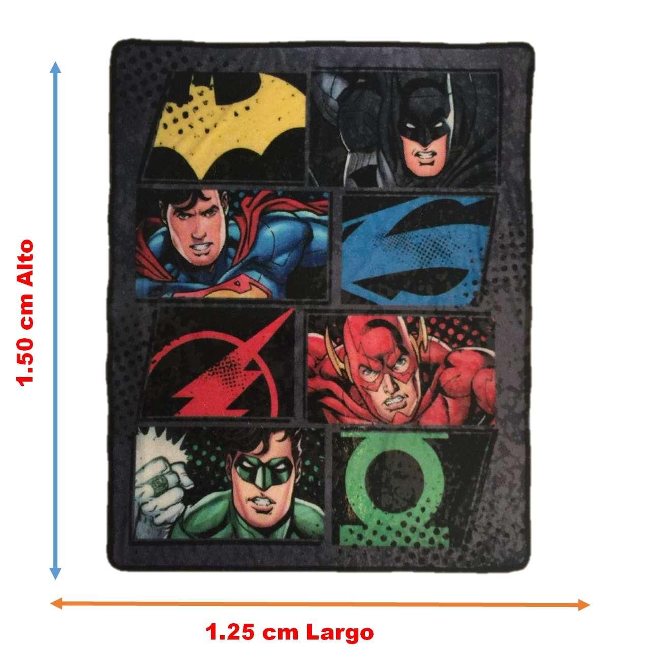 Frazada Standard Dc Justice League Intima Hogar 1.50x1.25m