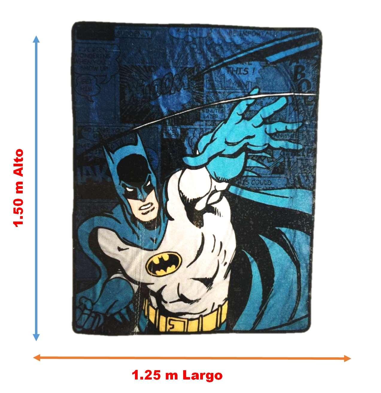 Frazada Standard Multicolor Batman Intima Hogar 1.50x1.25m