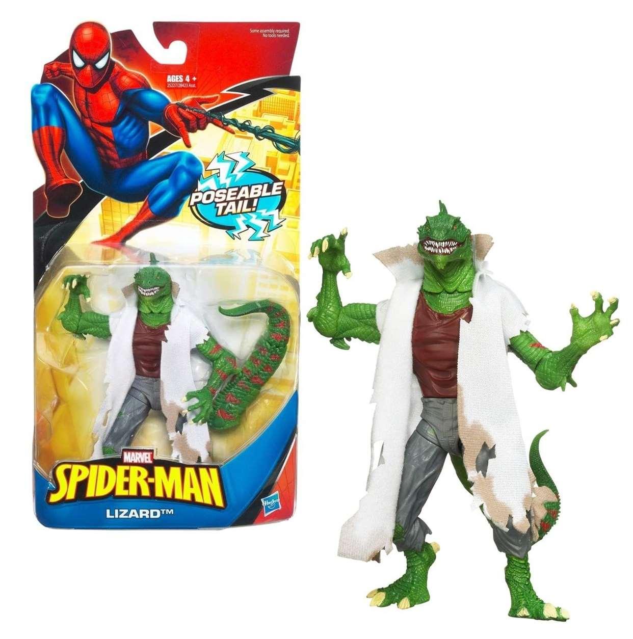 Lizard Poseable Tail Figura Marvel Spider Man 4 Pulgadas