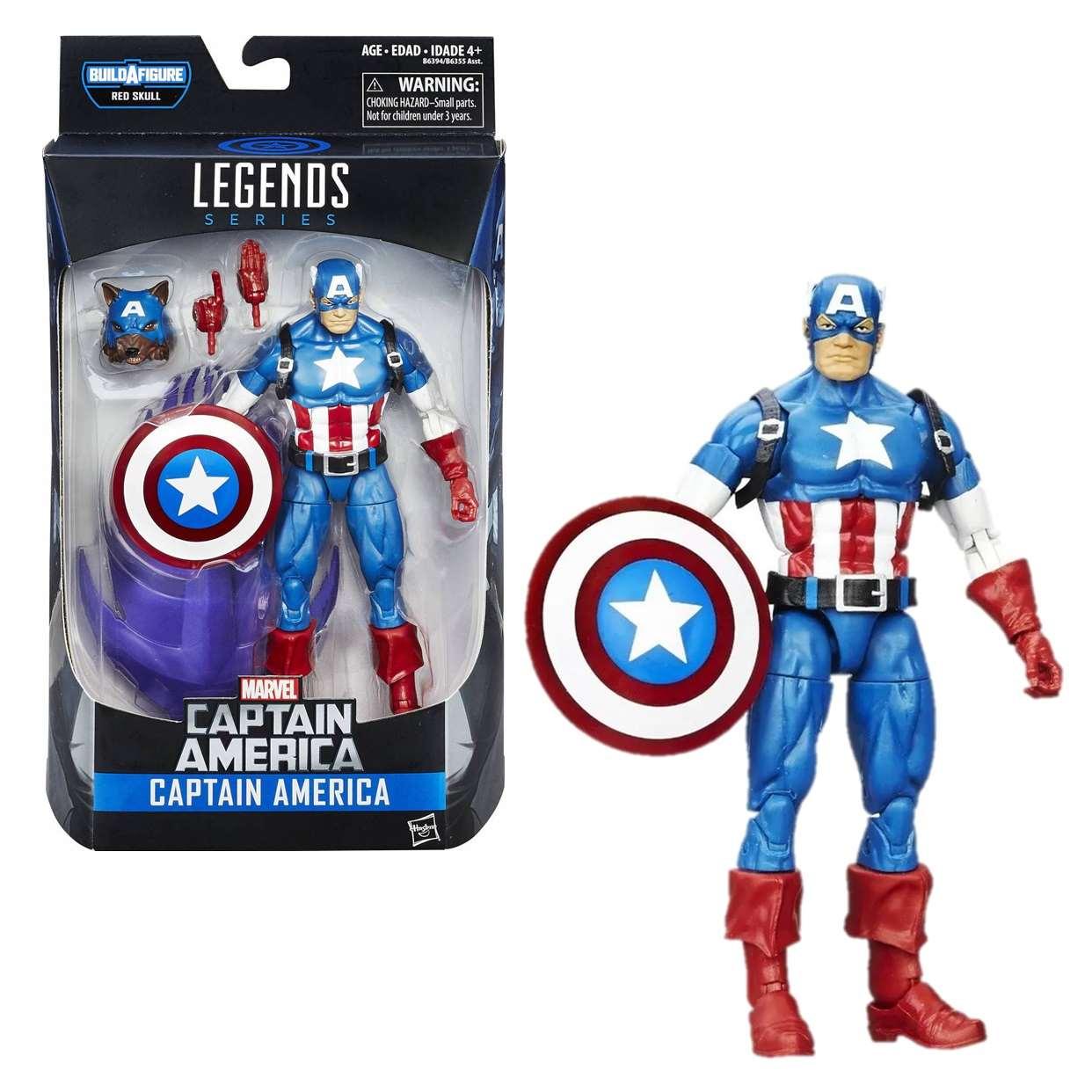 Capitán América Figura Marvel B A F Red Skull Legends 6 PuLG