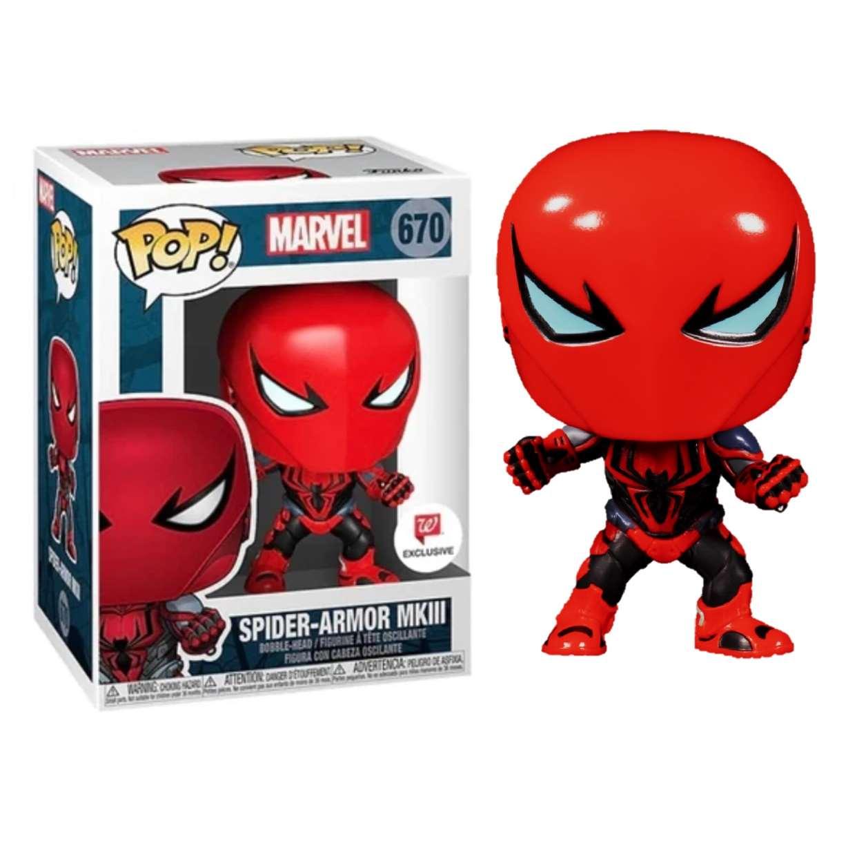 Spider Armor Mklll #670 Figura Marvel Funko Pop! Ex Walgreen