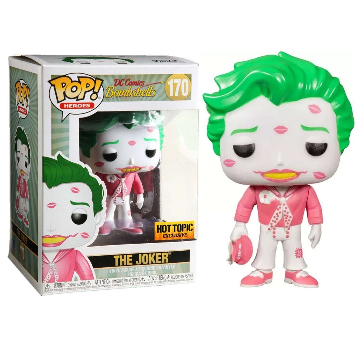 The Joker #170 Figura Dc Comic Bombshell Funko Pop! Exc Hot Topic