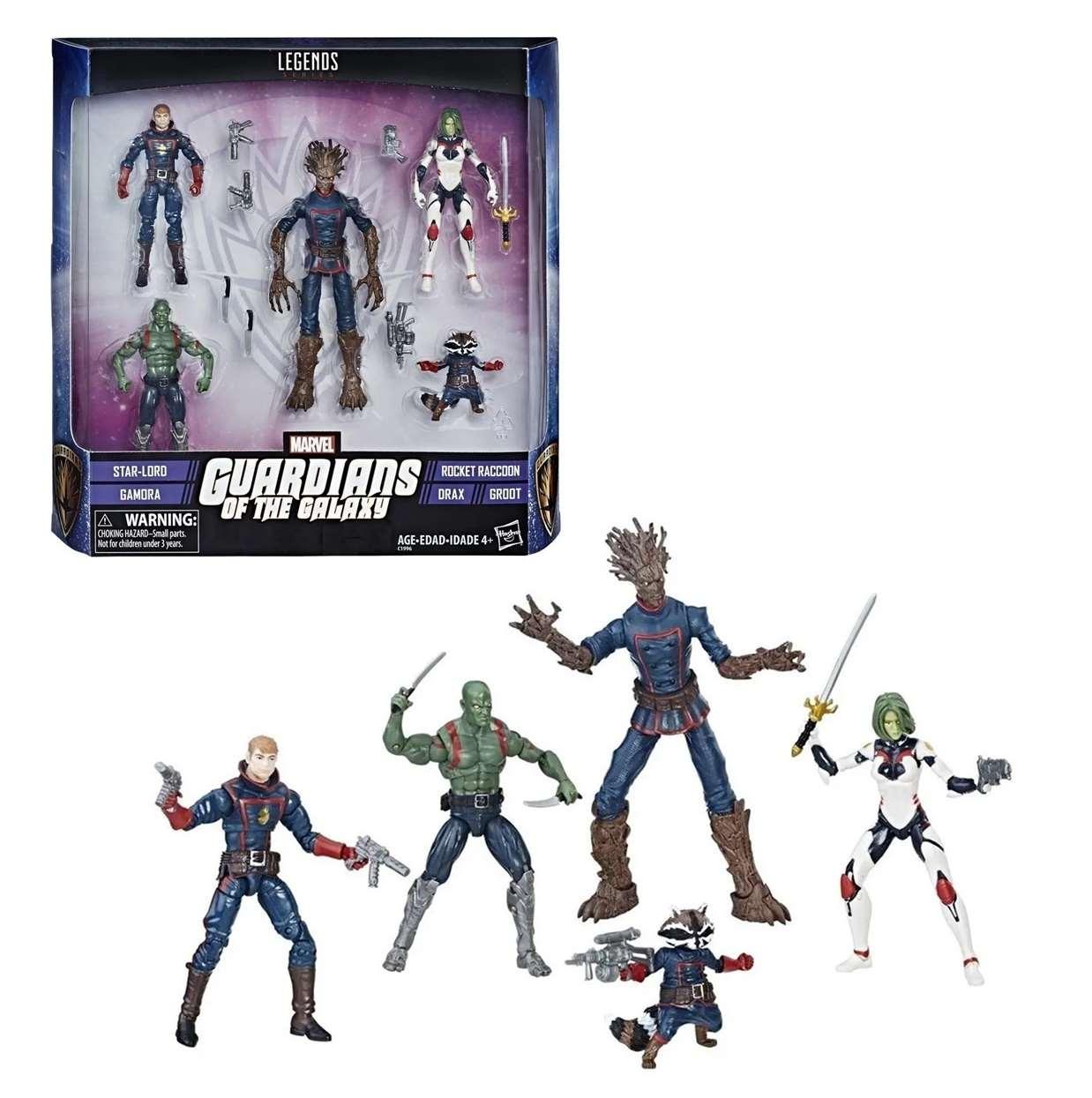Pack de 5 Figuras Marvel Guardianes De La Galaxia Legends