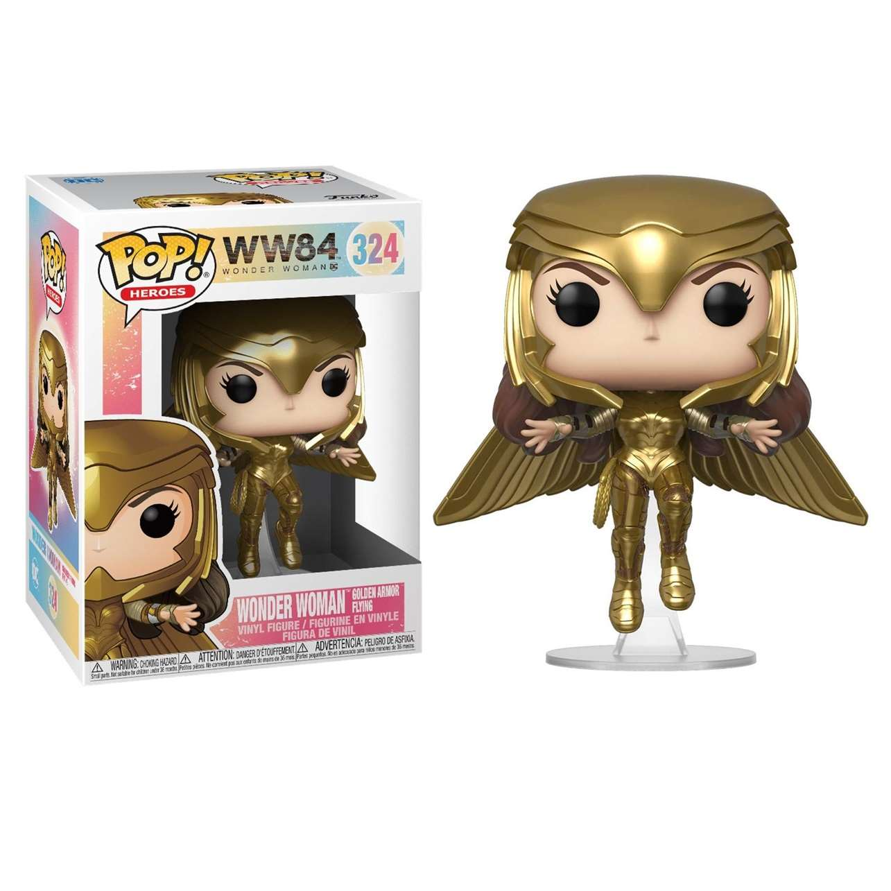 Wonder Woman Golden Armor Flying #324 WW84 Funko Pop!