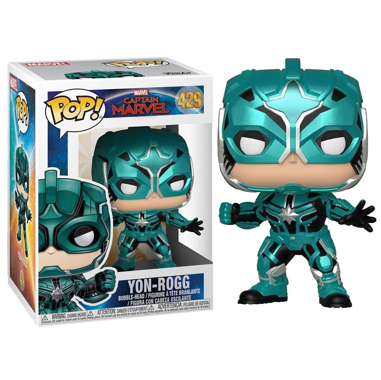 Yon Rogg #429 Figura Capitana Marvel Funko Pop!