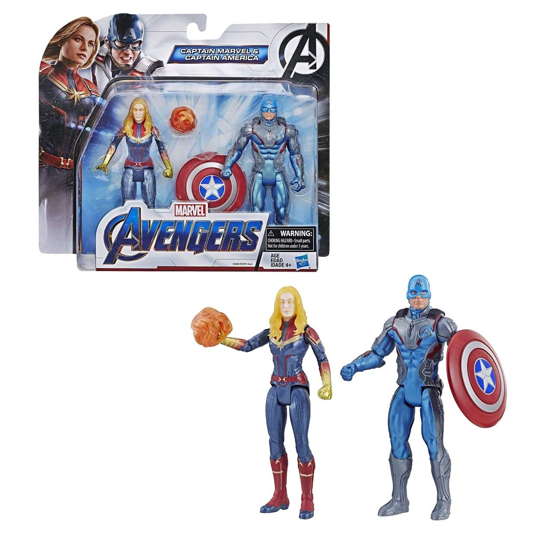 Paquete Capitana Marvel & Capitán América Avengers End Game