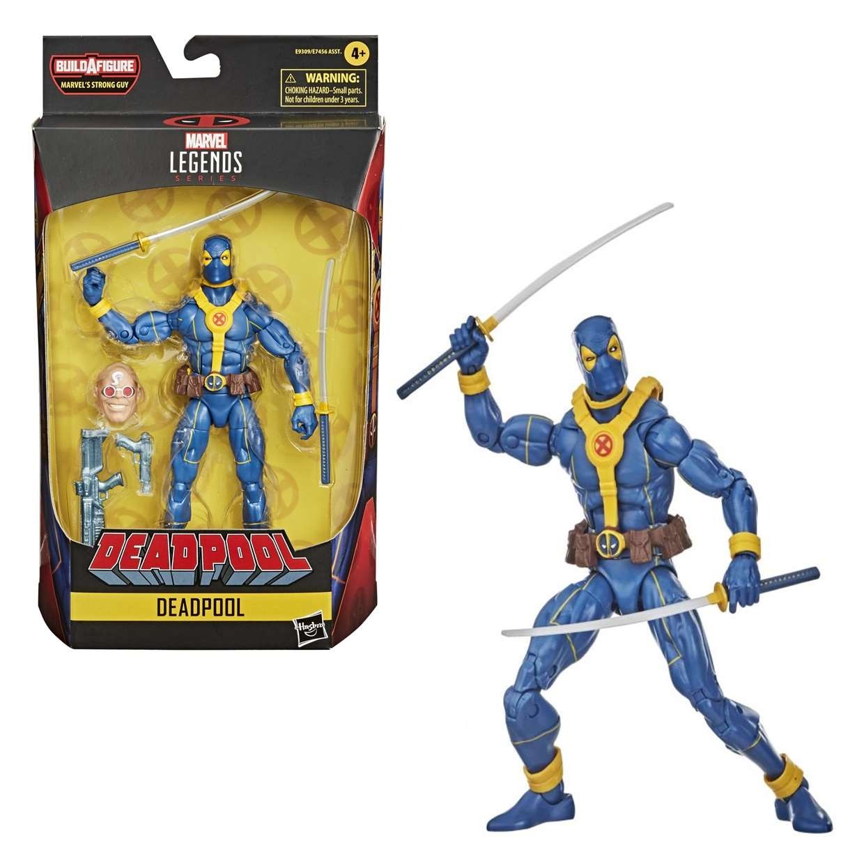 Deadpool Blue Figura Marvel B A F Strong Guy Legends Series