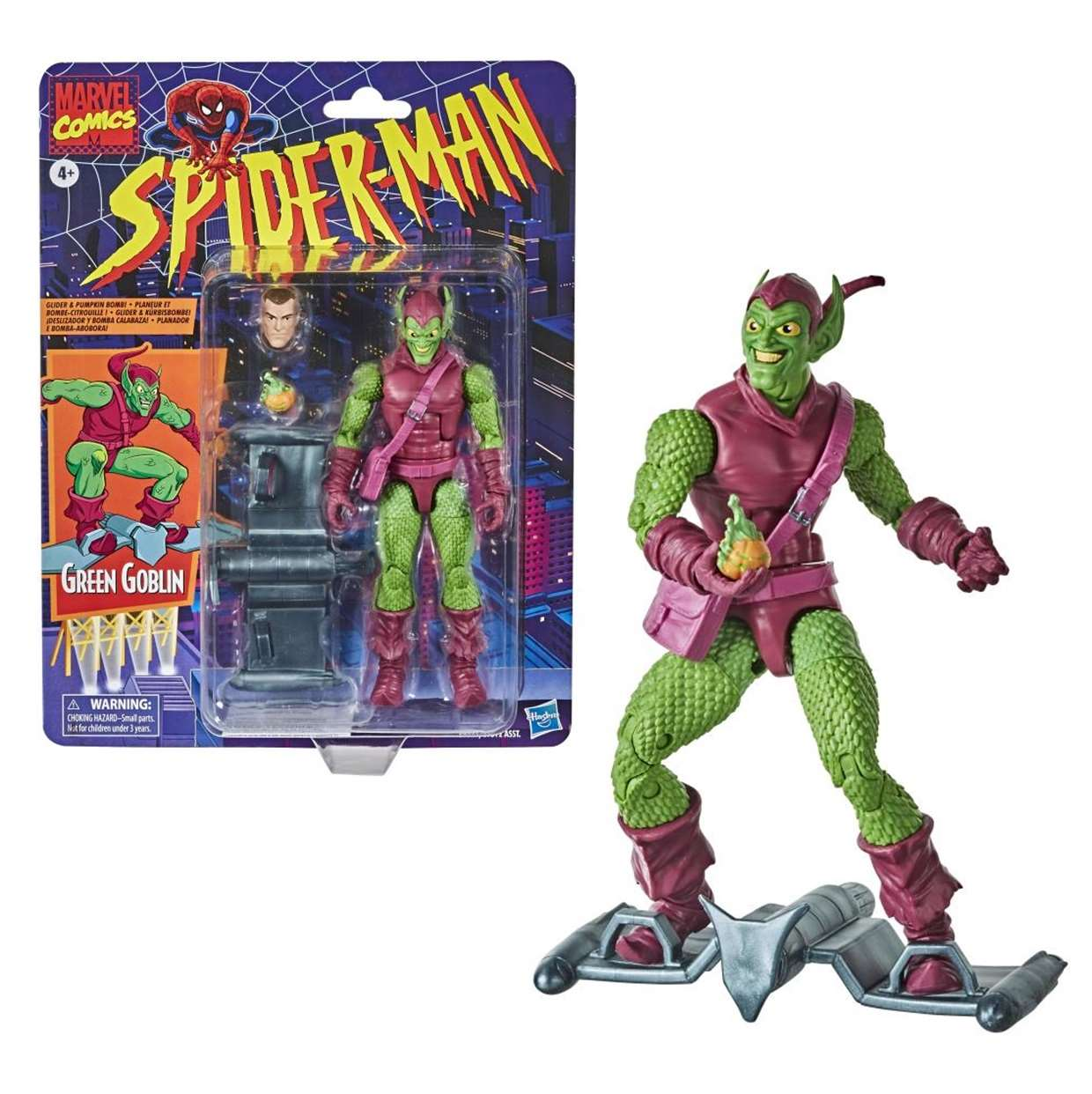 Green Goblin Vintage Figura Marvel Comics Hasbro 6 Pulgadas