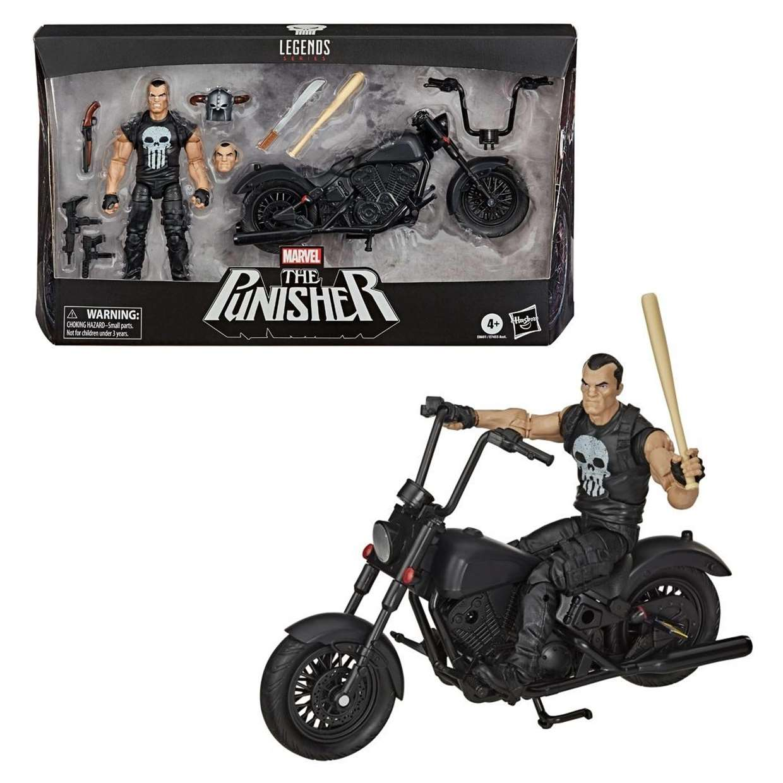 The Punisher Con Motocicleta Figura Marvel Legends Series