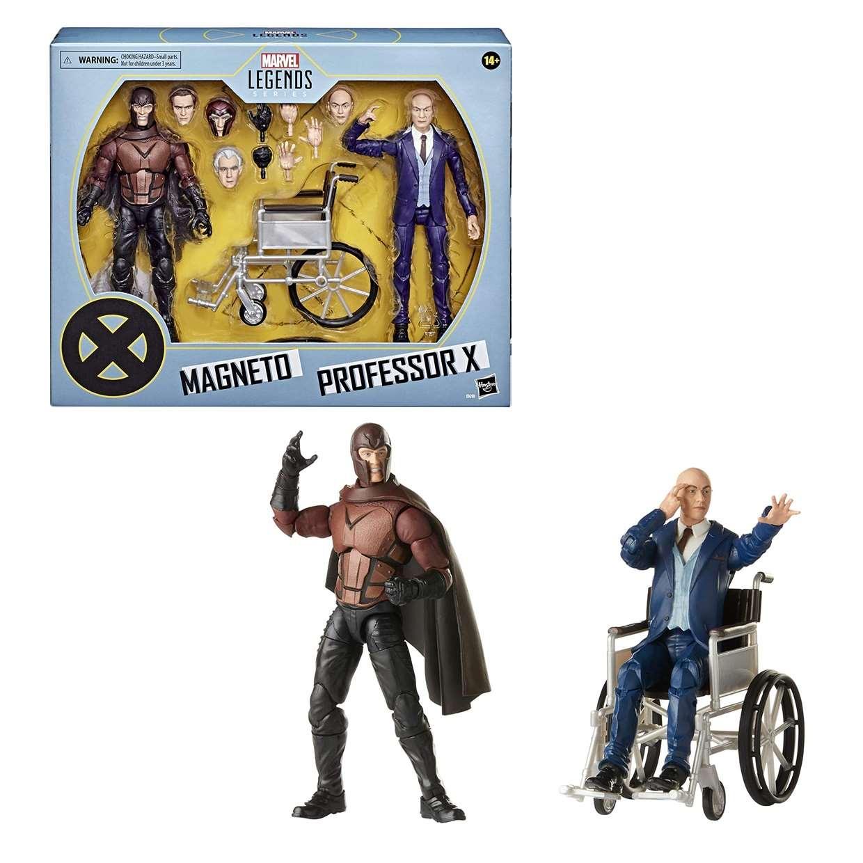 Pack 2 Figuras Magneto Y Professor X Marvel Legends Series