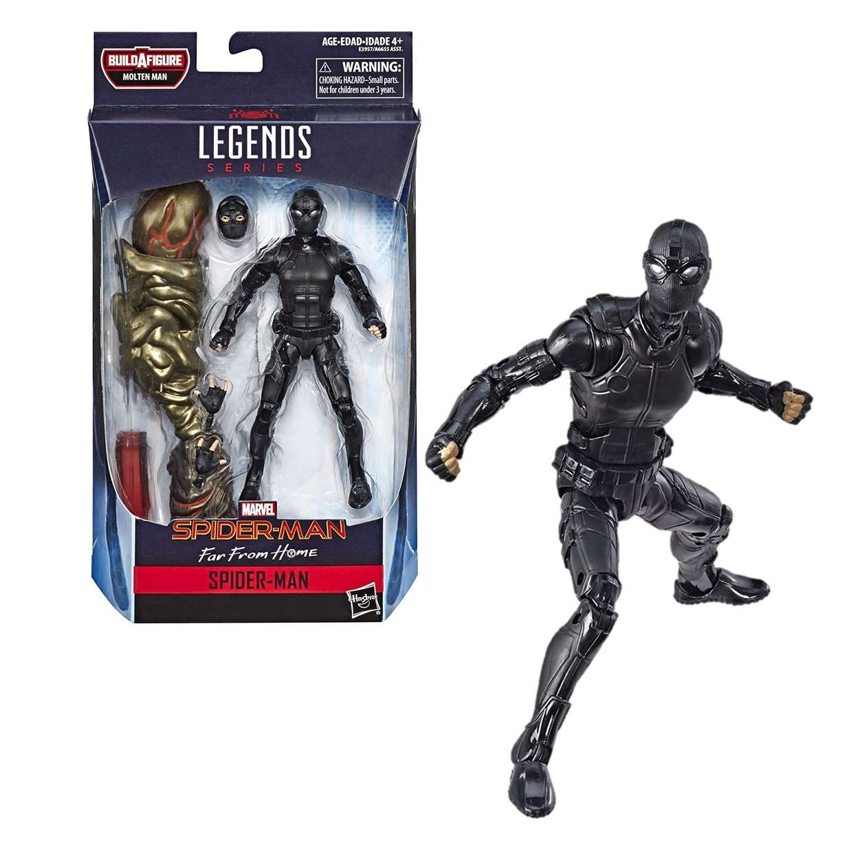 Spider Man Black Suit Figura Far From Home B A F Molten Man