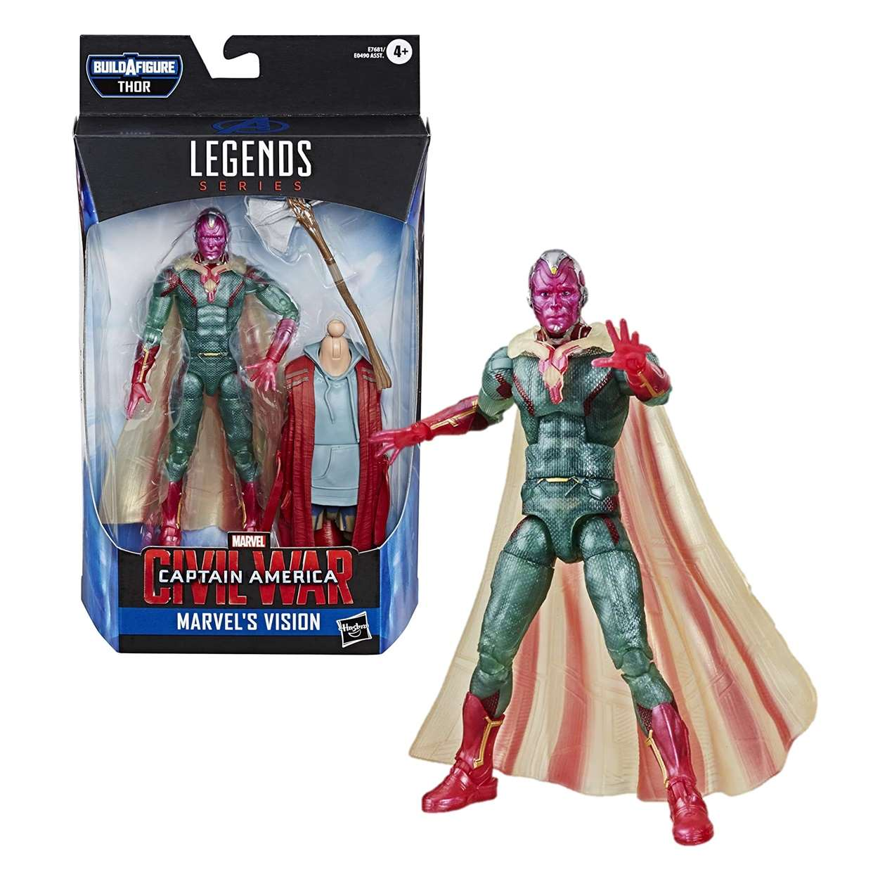Vision Figura Marvel B A F Thor Capitán América Civil War