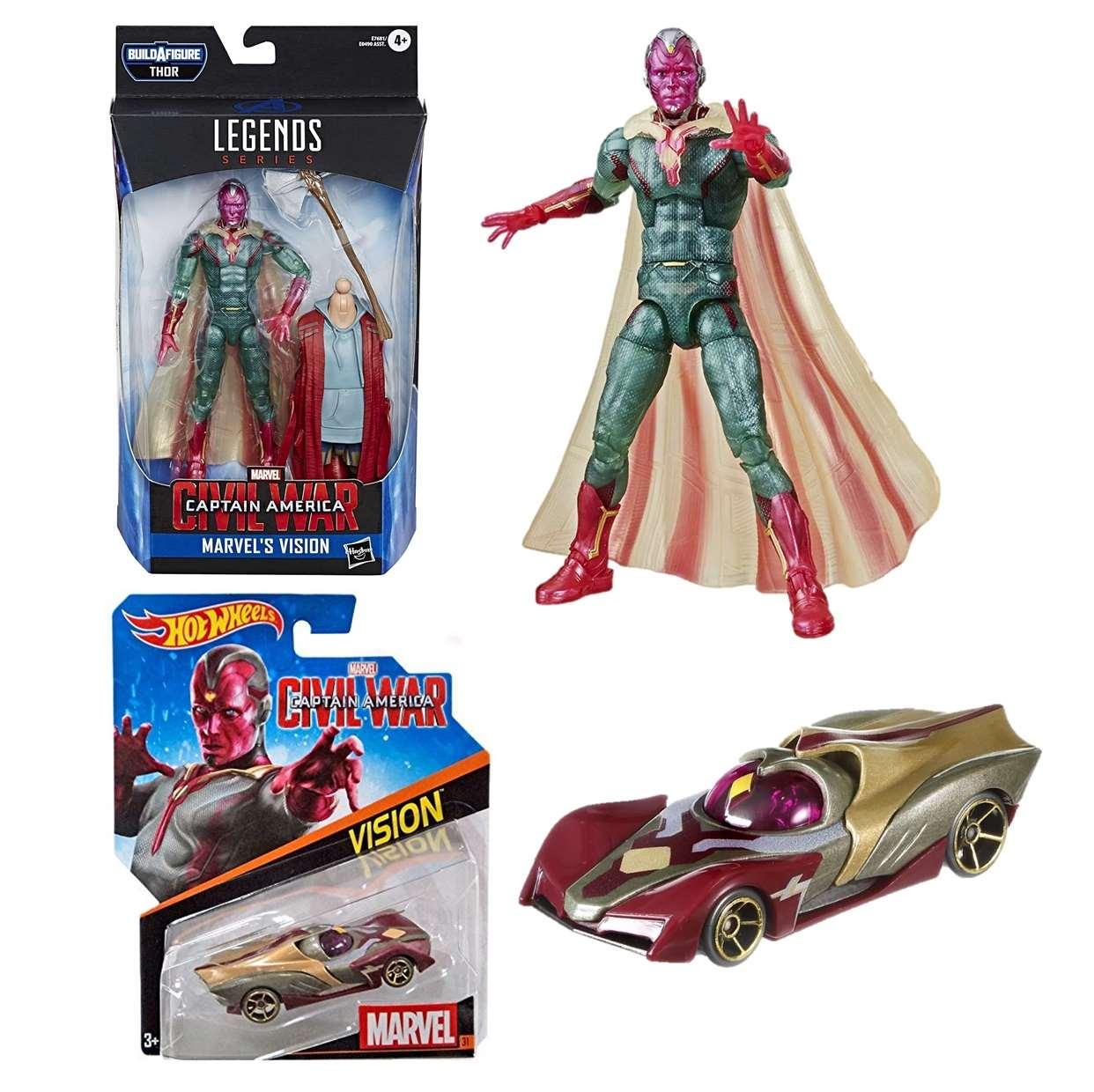 Pack Vision Capitán América Civil War + Vision #31 Hotwheels