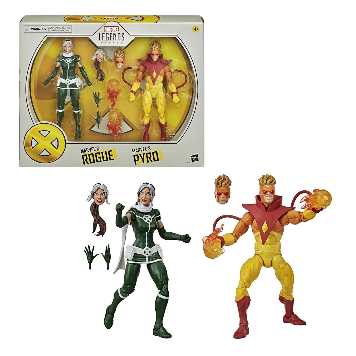 Pack Rogue And Pyro Figura X Men Legends Series 6 PuLG