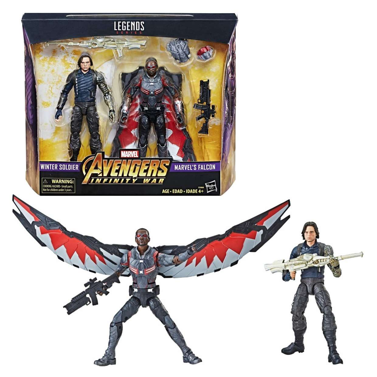 Pack 2 Figuras Winter Soldier & Falcon Infinity War Legends Series 6 Pulg