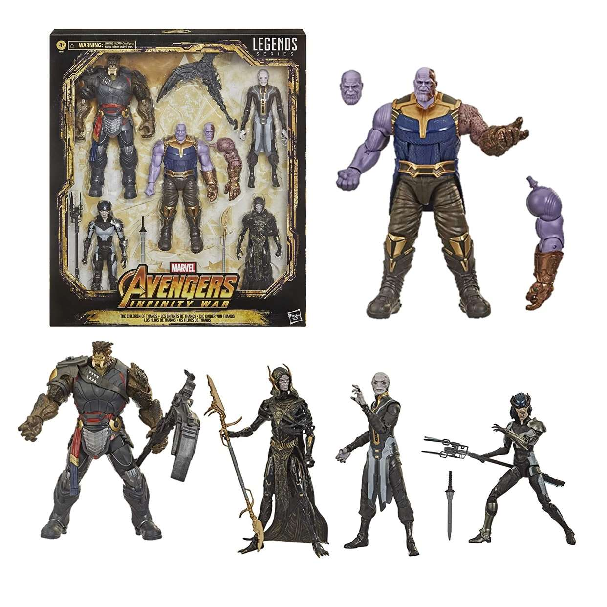 Pack 5 Figuras Hijos De Thanos Infinity War Legends Series