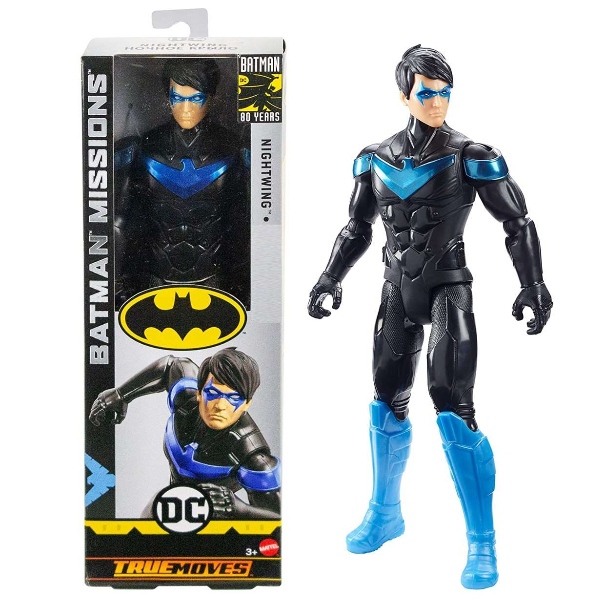 Nightwing Figura Batman Missions Dc Comics True Moves 12 Pulg