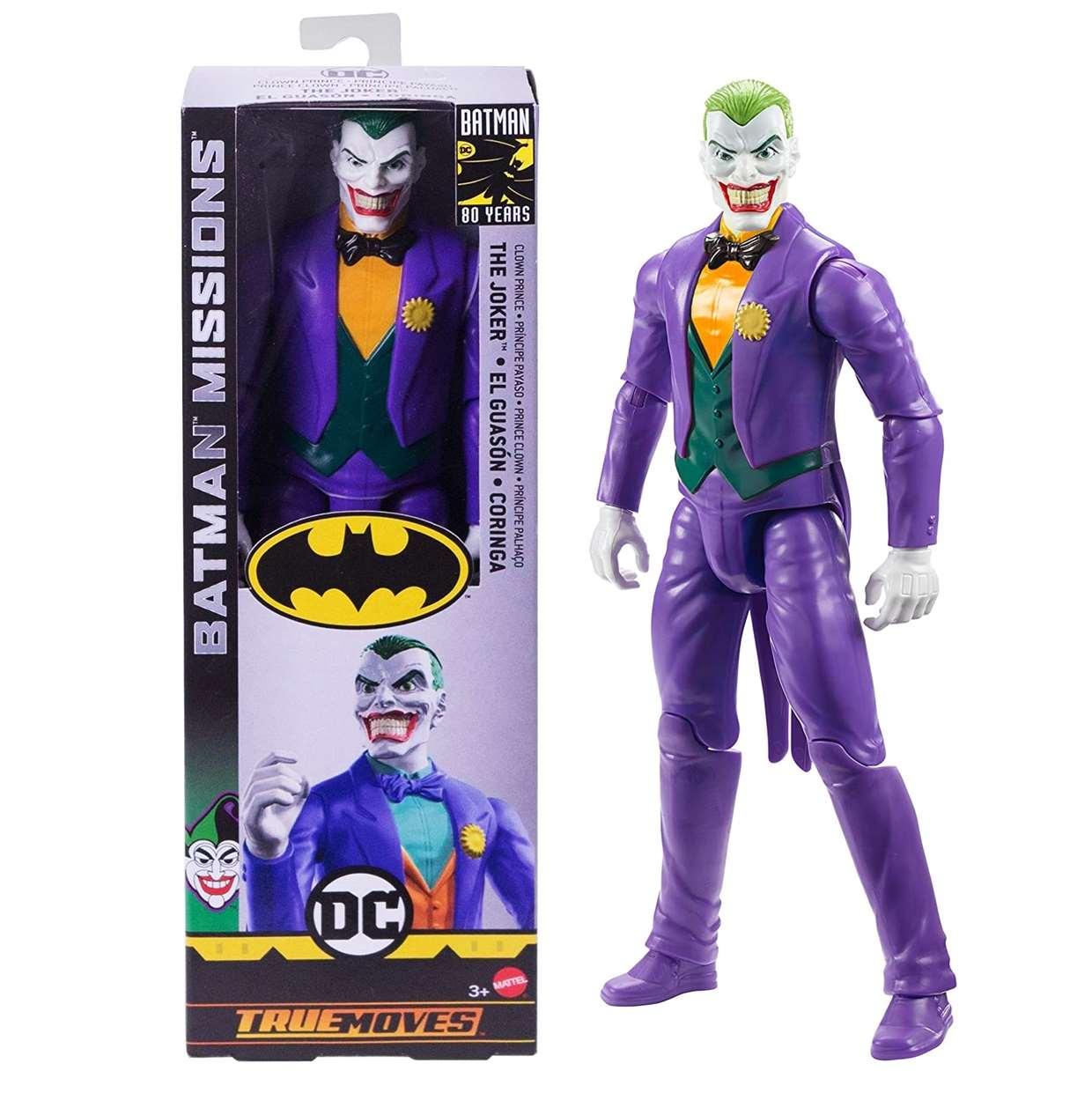 The Joker Clown Prince Figura Batman Missions True Moves  12 Pulg
