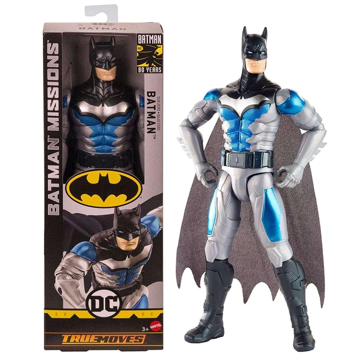 Batman Sub Zero Figura Batman Missions True Movies 12 Pulg
