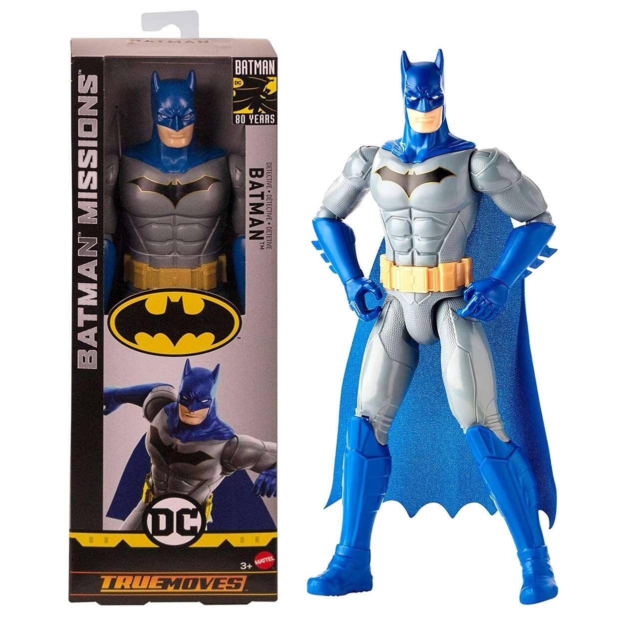 Batman Dectective Figura Batman Missions True Moves 12 Pulg