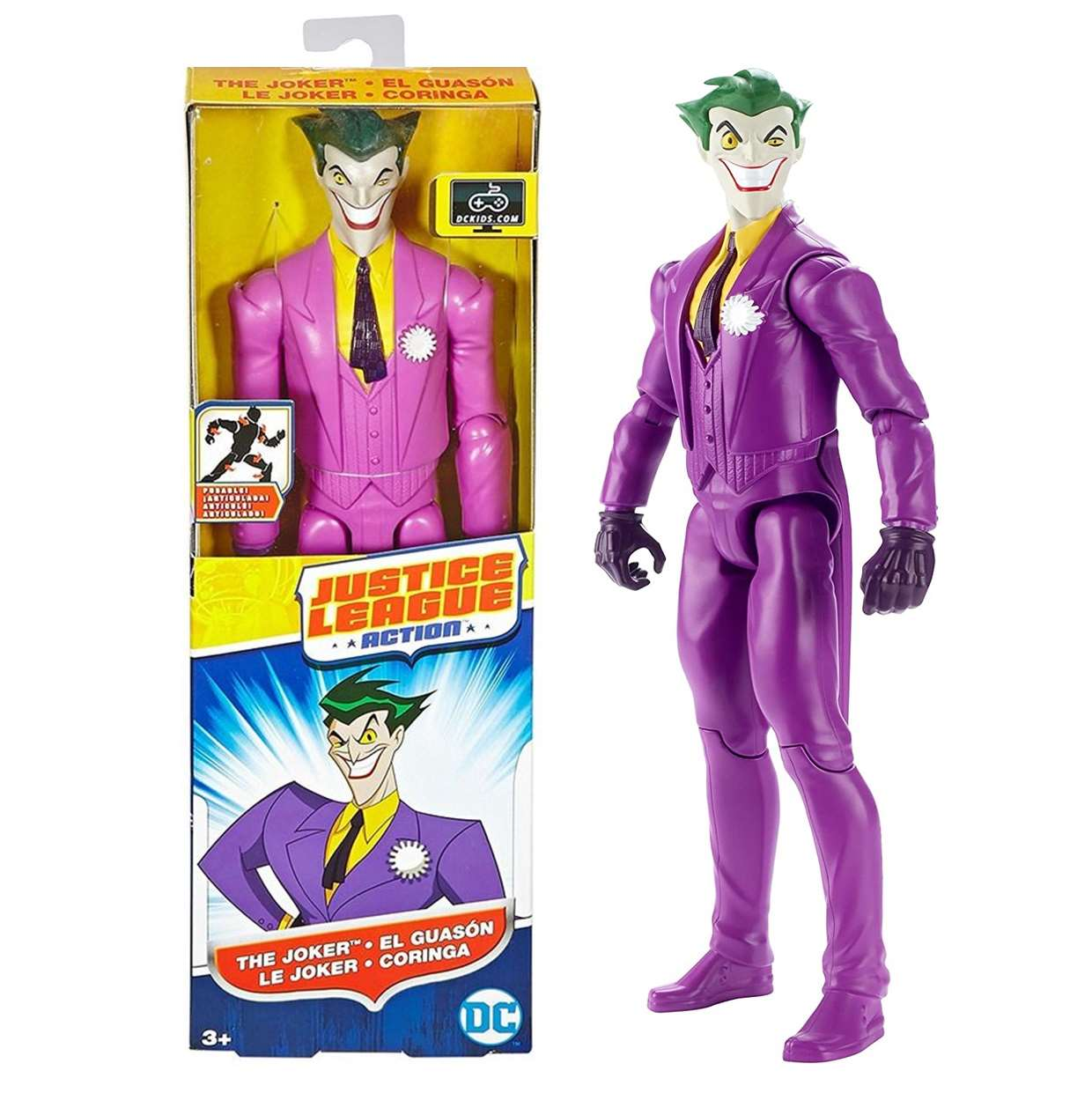 The Joker Figura Dc Justice League Action Mattel 12 Pulgadas