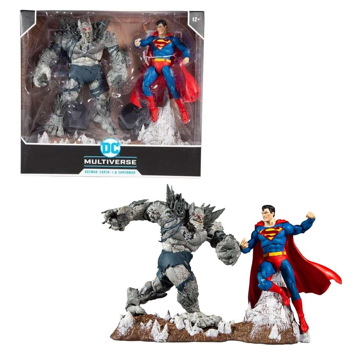 Batman Earth 1 Vs Superman Figura Dark Nights Metal