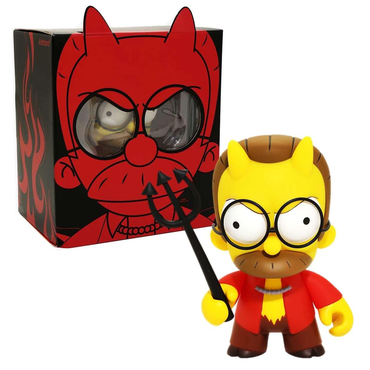 Devil Ned Flanders Figura Los Simpson Kidrobot 2017
