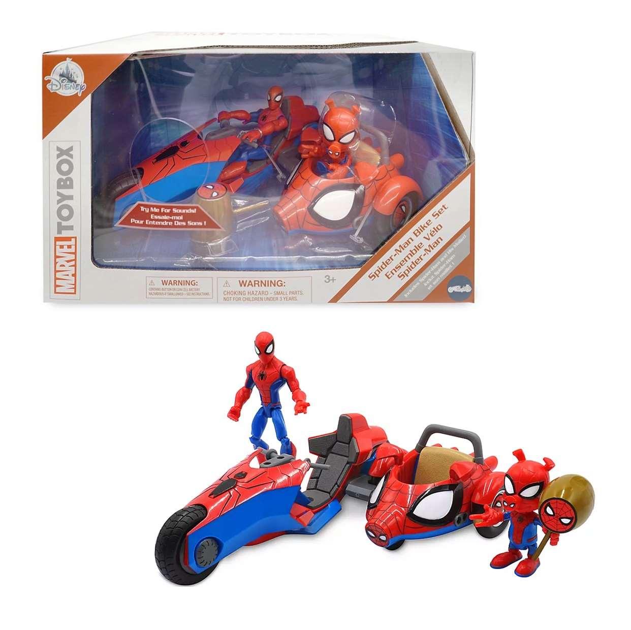 Spider Man Bike Set And Spider Ham Marvel Toybox