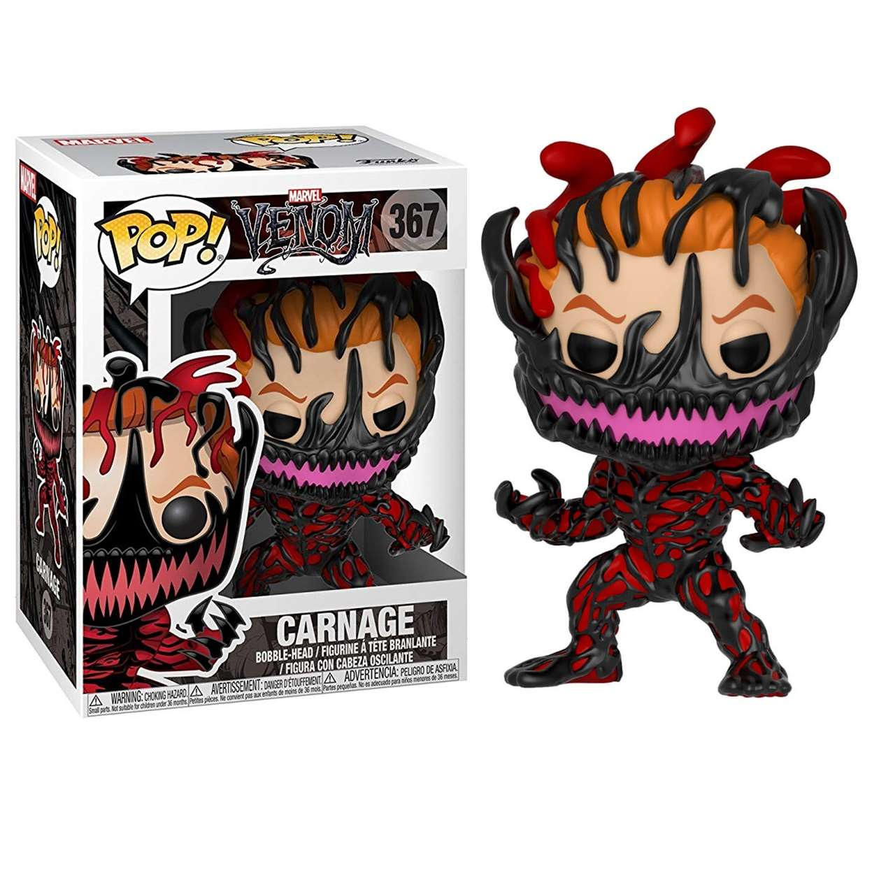 Carnage #367 Figura Venomized Marvel Venom Funko Pop!