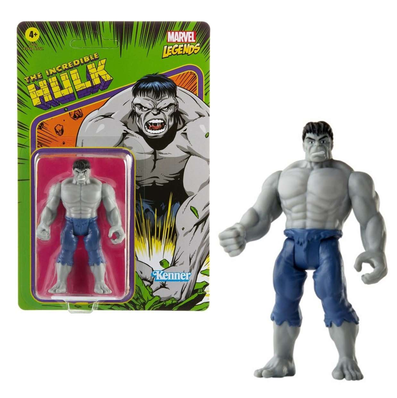 The Incredible Hulk Gray Vintage Figura Marvel Kenner 3 PuLG