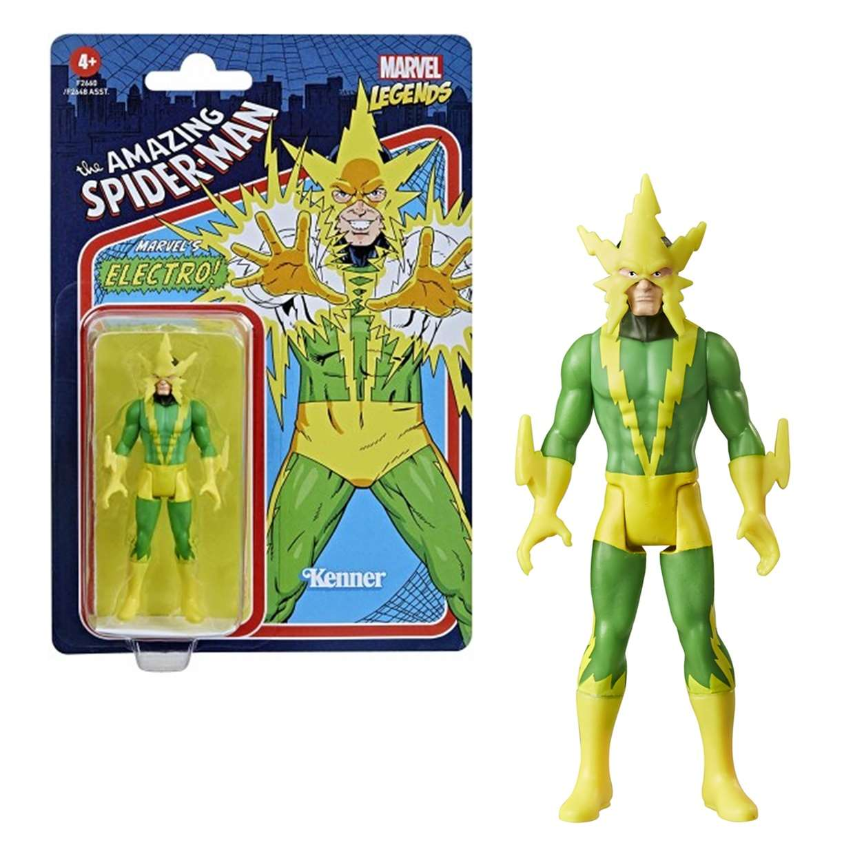 Electro Vintage Figura The Amazing Spider Man Kenner 3 PuLG