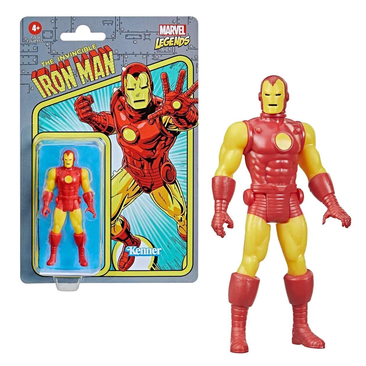 The Invincible Iron Man Vintage Figura Marvel Kenner 3 PuLG