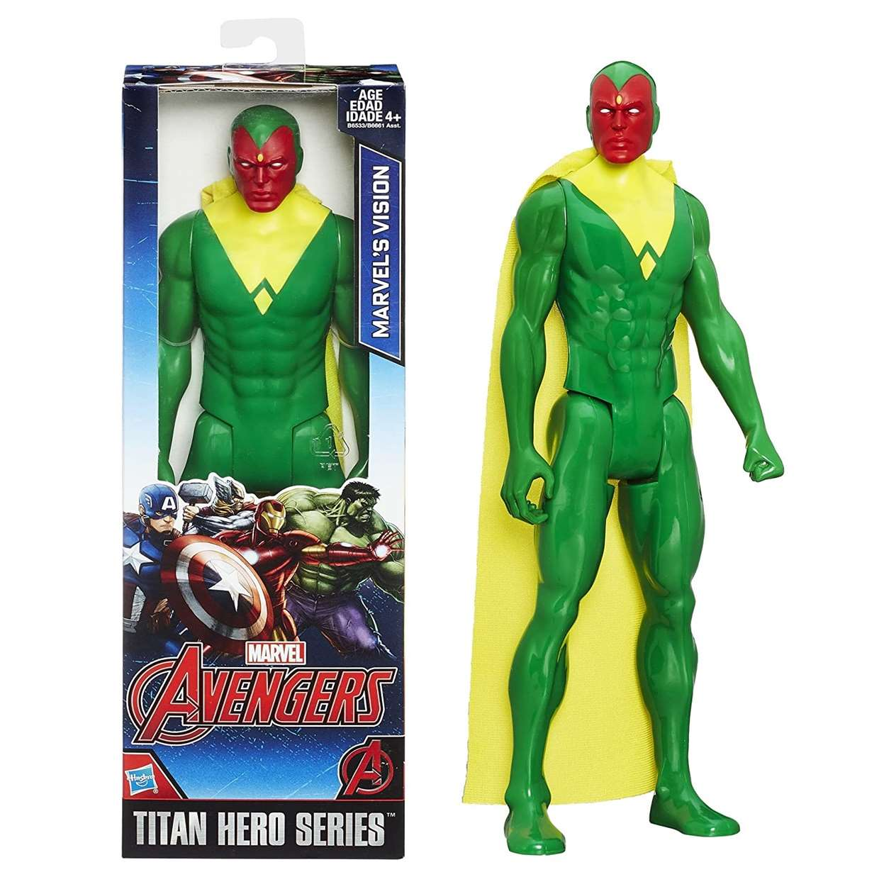 Visión Figura Avengers Initiative Titan Hero Series 12 PuLG
