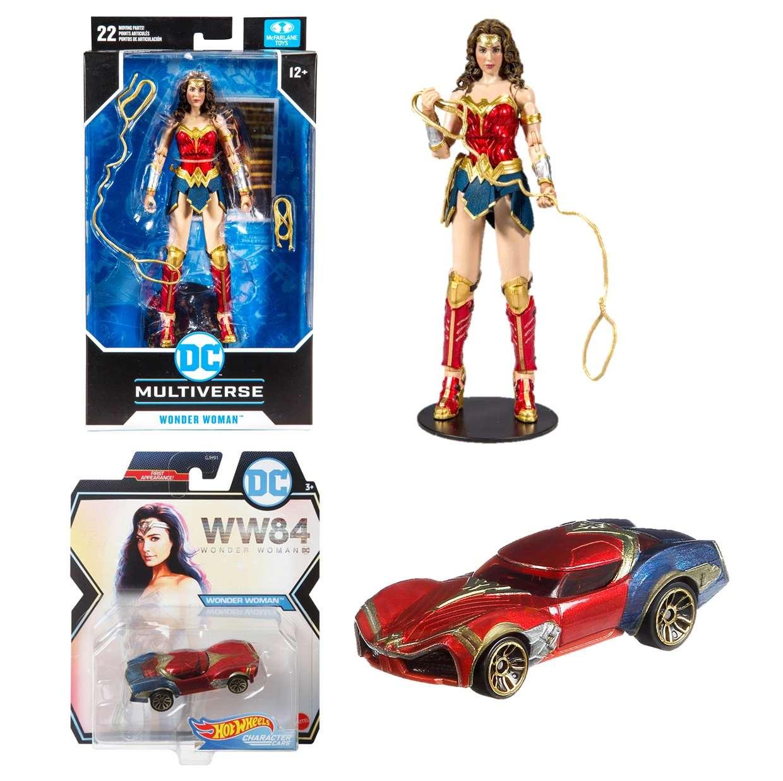 Pack Wonder Woman 1984 Mc Farlane + Hot Wheels Gratis!
