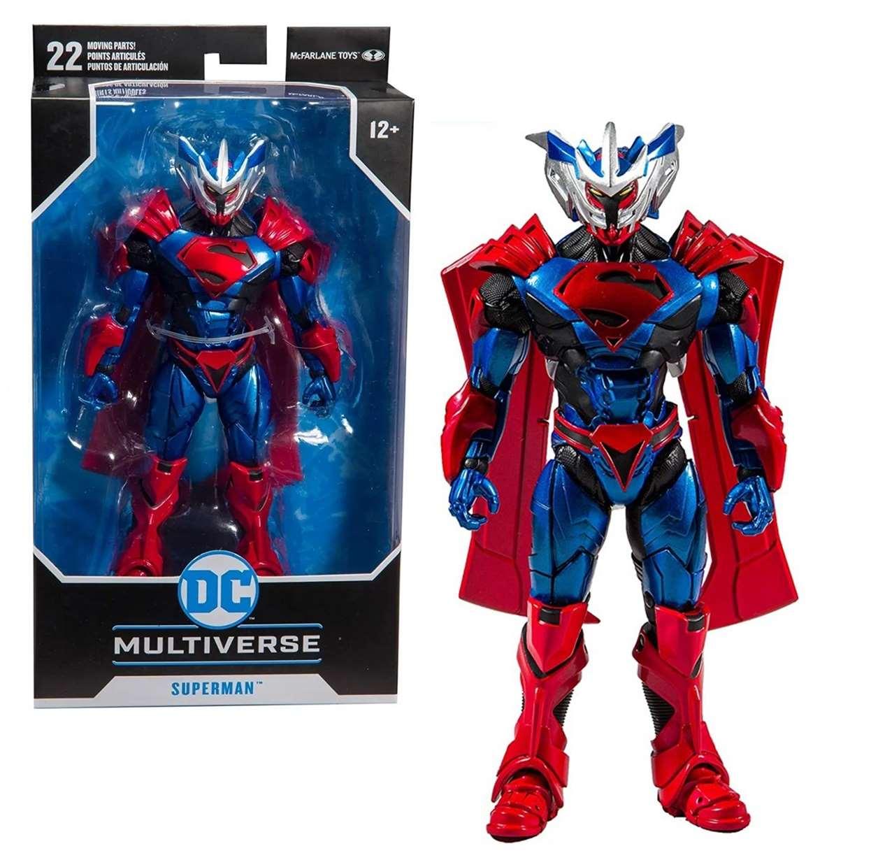 Superman Unchained Armor Figura Dc Comics Mcfarlane Toys