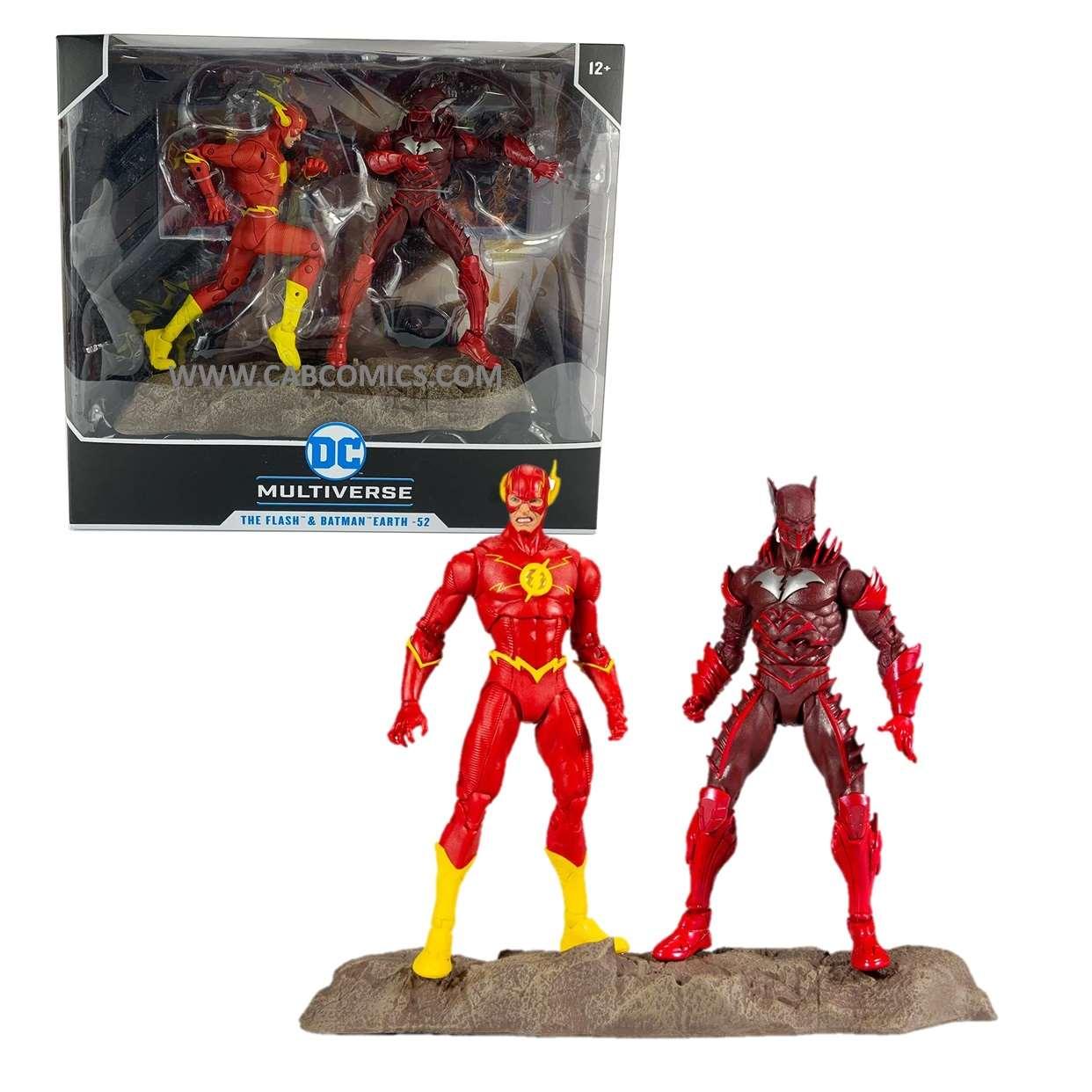 The Flash & Batman Earth #52 Multiverse Mcfarlane Two Pack