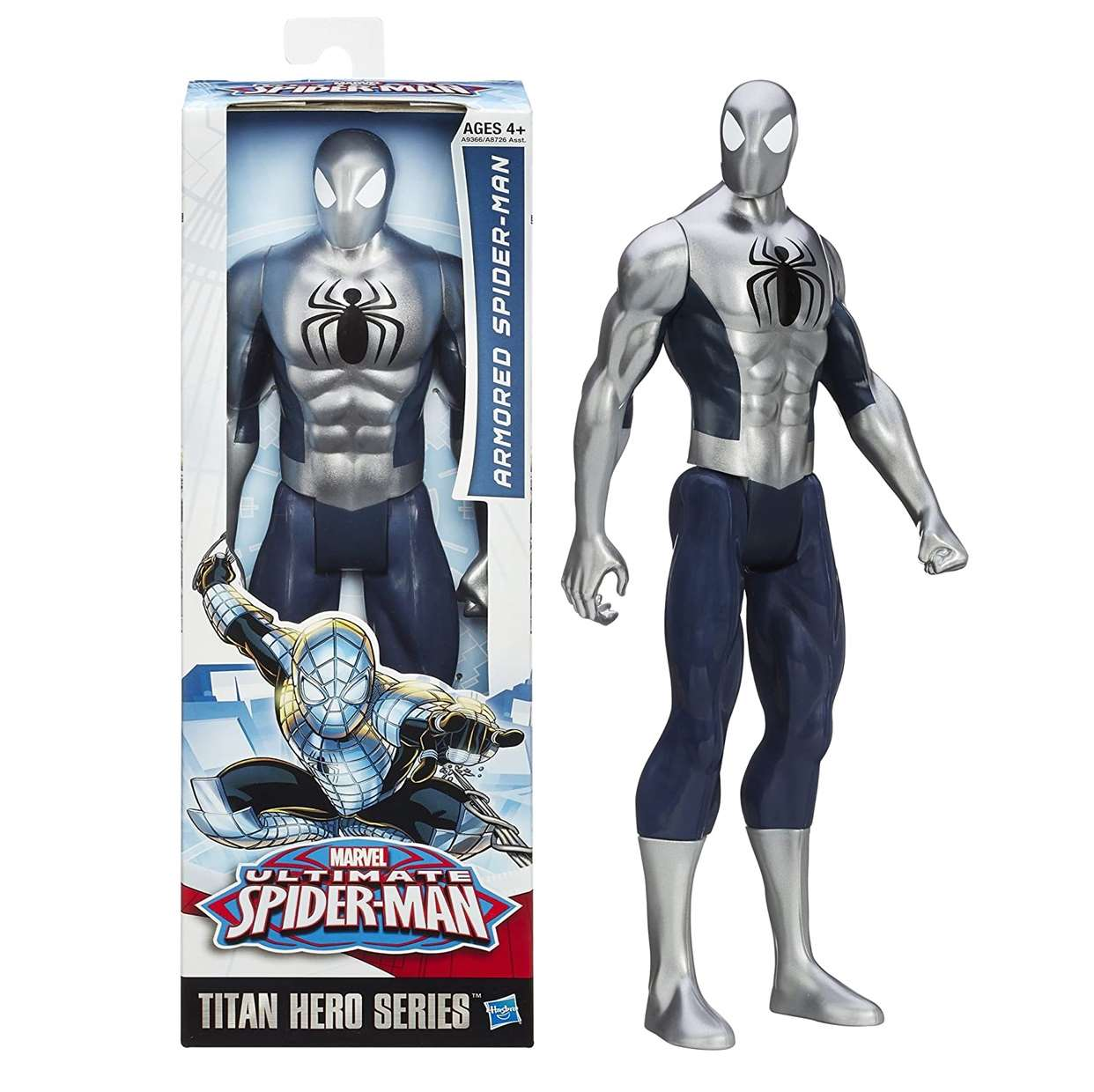 Armored Spider Man Figura Marvel Ultimate Titan Hero 12 PuLG